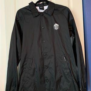 d42f7a4d68e79 HUF. NWT Thrasher Black Hooded Coaches Jacket Medium